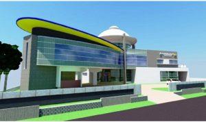 Desain gambar bangunan gedung kantor Dinas PUPR, di kawasan jalan Bireuen-Takengon Desa Meunasah Capa Kecamatan Kota Juang.